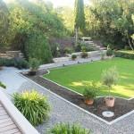 Gesamtansicht eines südländischen Gartens