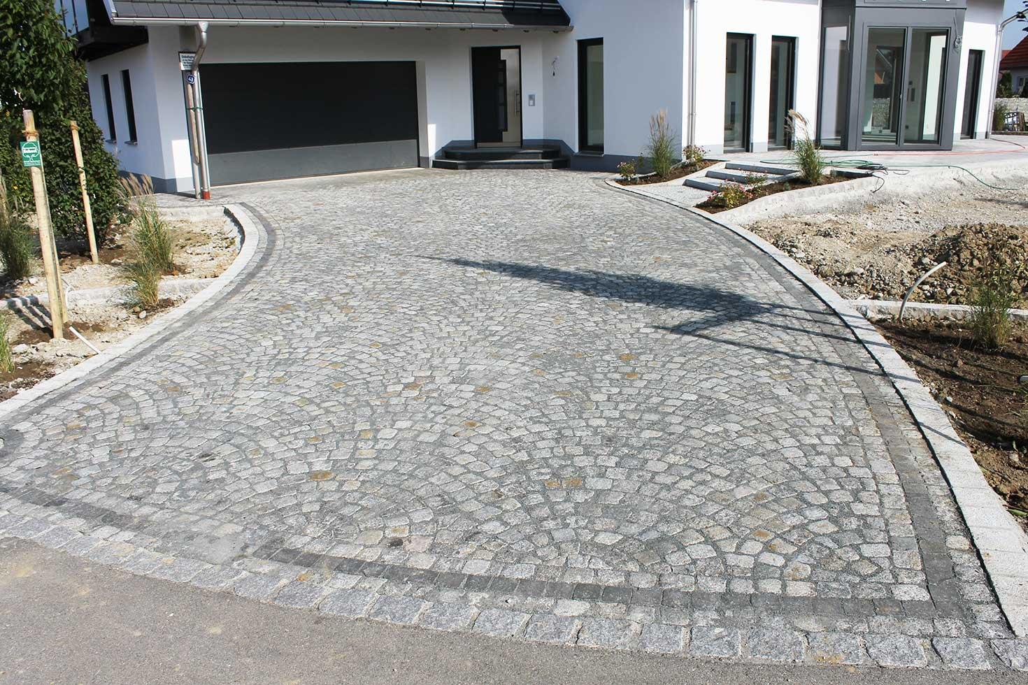 Einfahrt Aus Lausitzer Granit Steinkunst Schwaben