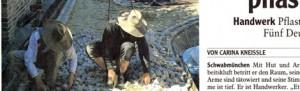 Kleiner Scan eines Artikels über Steinsetzer in Russland