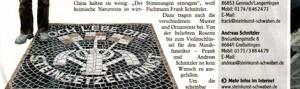 Kleiner Scan eines Zeitungsartikels