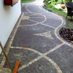 Mosaikpflaster Gestaltung gartenweg_pflaster