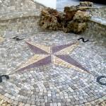 Schmuckpflaster-kompass